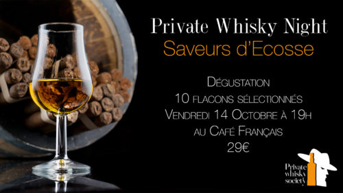 Private Whisky Night Saveurs d'Ecosse