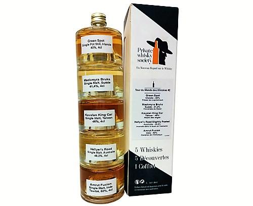Coffret de dégustation Tour du Monde des Whiskies #2