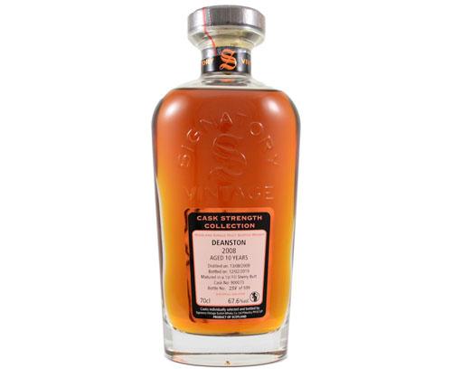 Deanston 2008 11 ans Signatory Vintage 67.6% – Note de dégustation